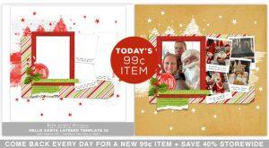 Katie Pertiet December Daily Scrapbook Template