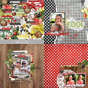 Katie Pertiet Strawberry Scrapbook Kit