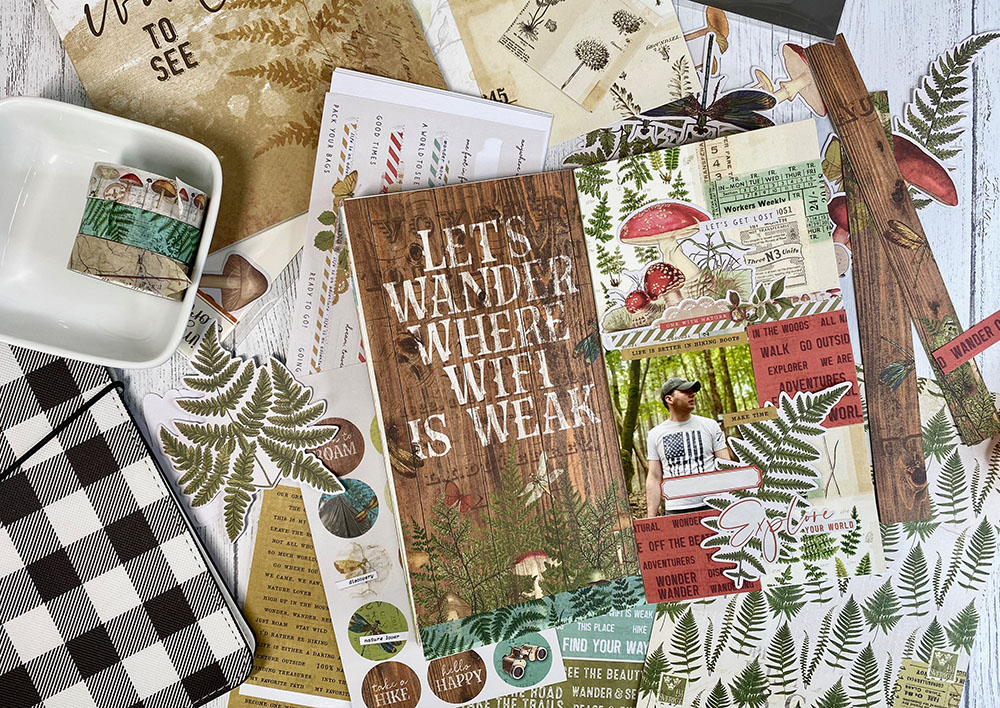 Katie Pertiet Great Escape Outdoor Scrapbook