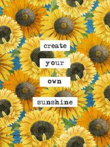 Katie Pertiet Sunflower Pattern Design
