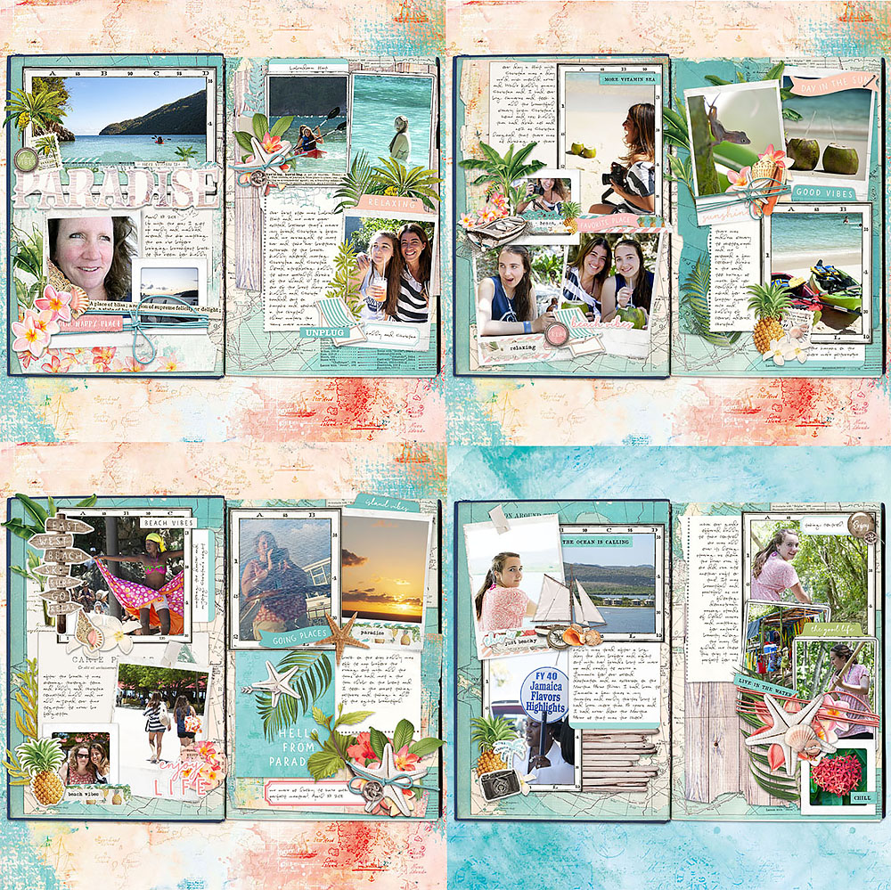 Katie Pertiet Travel Journal Scrapbook Pages