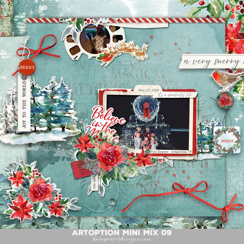 Katie Pertiet Christmas SCrapbook Kit