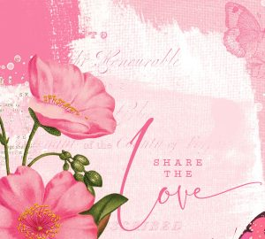 Katie Pertiet Designs Pink Botanical Card